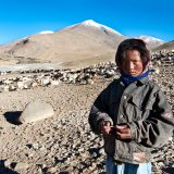 Portrait of a young Changpa nomad in the Changtang Plateau