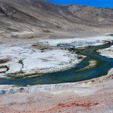 Salt plain near Tso Kar, a high altitude salt water lake
