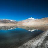 Tso Kiagar, a high altitude salt water lake in the Changtang Plateau