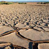 Cracked earth, near Chigaga Dunes