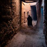 Passageway between private dwellings in the old oasis town of M'hamid El Ghizlane
