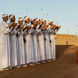 Traditional Rokba musicians performing in the village of Oulad M'haya, near M'Hamid El Ghizlane