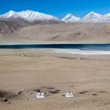 Portfolio, Changpa Nomad dwellings on the shore of Tso Kiagar, a high altitude salt-lake